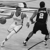 Westbrook and Durant score 71, Thunder ties series at 2-2