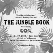The Jungle Book To Run in the Children's Garden at Myriad Gardens