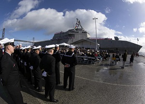 USS Tulsa hits the seas during commission ceremony