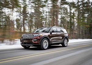 The new Ford Explorer can be equipped with tires that can repair themselves