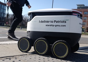The Robots Are Here: At George Mason University, They Deliver Food To Students