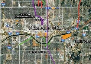 Interactive development map of OKC