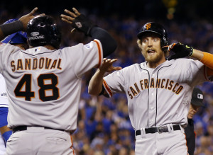 Giants Steamroll Royals In World Series Opener