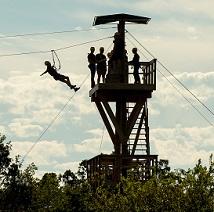 POSTOAK Lodge & Retreat Canopy Tour Zip Line
