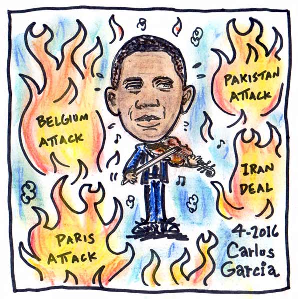 Image result for Nero -Obama while dc burns